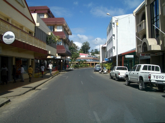 The centre of Port Vila town, Vanuatu