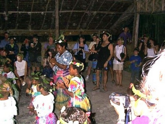 Dancers and tourists at Melanesian Feast Night