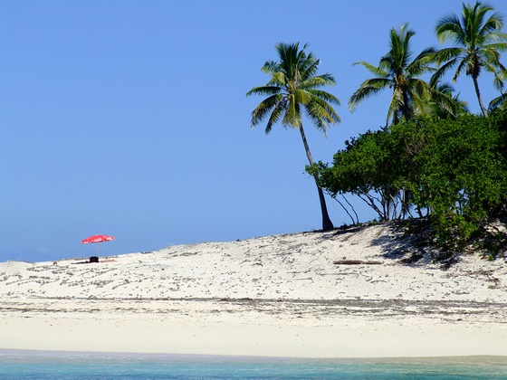 Island beach in Fiji
