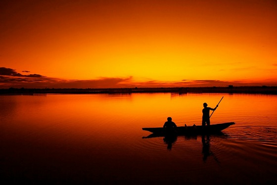 Fishing before sunrise