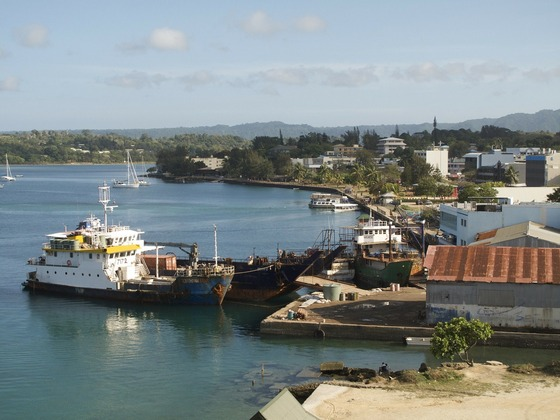 Town harbour in Port Vila