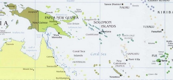 Map of Melanesian region