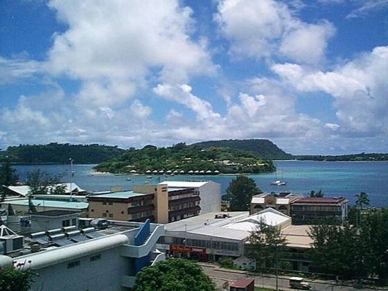 Panoramic view of Port Vila and its harbour