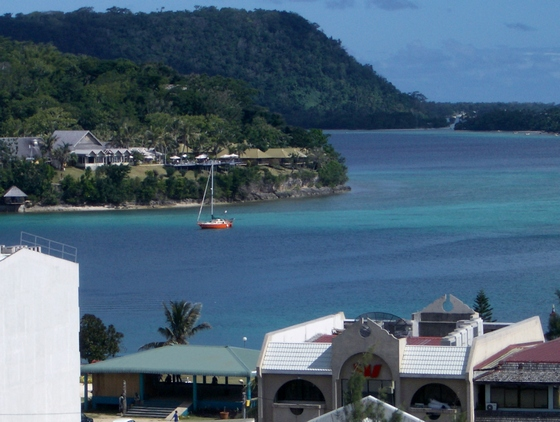 View of Port Vila and its harbour