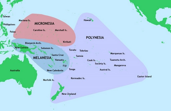 South Pacific Regions