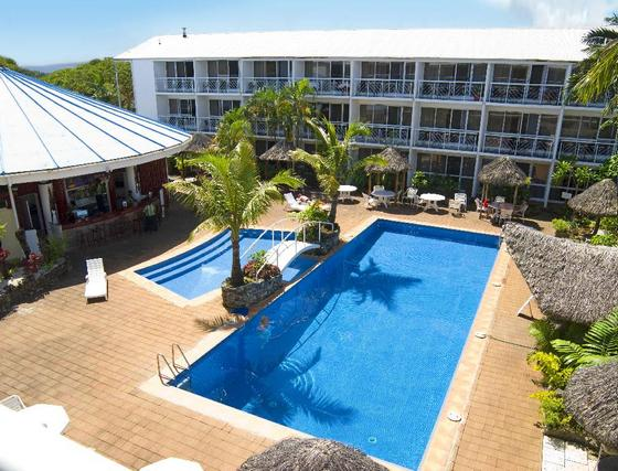 The Melanesian Hotel Poolside