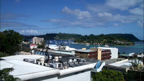 A Port Vila city view from the hills
