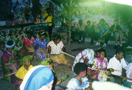 Vanuatu story play at Melanesian Feast Night