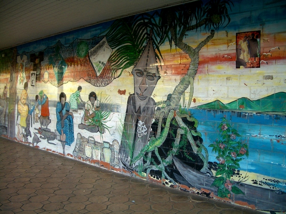 A wall mural in Port Vila